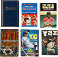 Autographs:Others, Baseball Hall of Famers Signed Books Lot of 6. ... (Total: 6 items)