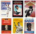 Autographs:Others, Baseball Stars Signed Books Lot of 6. ... (Total: 6 items)
