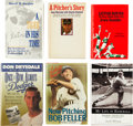 Autographs:Others, Hall of Fame Pitchers Signed Books Lot of 6. ... (Total: 6 items)