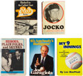 Autographs:Others, Baseball Figures Signed Books Lot of 5. ... (Total: 5 items)