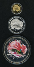 Papua New Guinea, Papua New Guinea: Centennial of First Coinage three-piece set 1994 as follows:... (Total: 3 coins)
