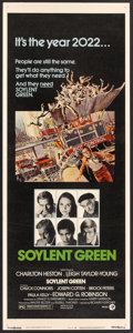 "Movie Posters:Science Fiction, Soylent Green (MGM, 1973). Insert (14"" X 36""). Science Fiction....."