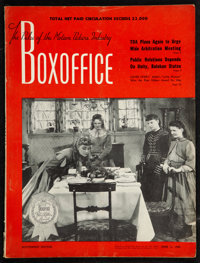 """Boxoffice Magazine (June 11 and September 17, 1949). Magazines (2) (9.25"""" X 12.25""""). ... (Total: 2 Items)"""