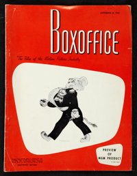 """Boxoffice Magazine (February-December, 1961). Magazines (4) (Multiple Pages, 9.25"""" X 12""""). Miscellaneous..."""