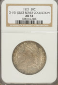 Bust Half Dollars, 1821 50C AU53 NGC. Ex:Jules Reiver Collection. O-101. NGC Census:(40/260). PCGS Population (45/234). Mintage: 1,305,797. N...