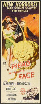 """Fiend Without a Face (MGM, 1958). Insert (14"""" X 36""""). Science Fiction"""