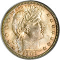 Barber Quarters, 1901-O 25C MS67 PCGS. CAC....