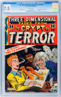 Golden Age (1938-1955):Horror, Three Dimensional Tales from the Crypt of Terror #2 (EC, 1954) CGCVF- 7.5 White pages....