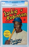 Golden Age (1938-1955):Non-Fiction, Jackie Robinson #2 (Fawcett, 1950) CGC NM 9.4 Off-white pages....