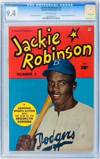 Jackie Robinson #2 (Fawcett, 1950) CGC NM 9.4 Off-white pages
