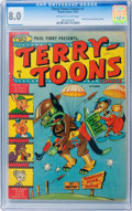 Golden Age (1938-1955):Funny Animal, Terry-Toons Comics #1 (Timely, 1942) CGC VF 8.0 Off-white to whitepages....