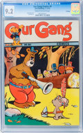 Golden Age (1938-1955):Funny Animal, Our Gang Comics #8 File Copy (Dell, 1943) CGC NM- 9.2 Cream tooff-white pages....