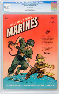 United States Marines #2 (Magazine Enterprises, 1944) CGC VF/NM 9.0 Off-white pages