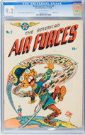 Golden Age (1938-1955):War, The American Air Forces #2 (Wm. H. Wise & Co., 1944) CGC NM- 9.2 Off-white pages....