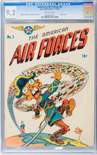 The American Air Forces #2 (Wm. H. Wise & Co., 1944) CGC NM- 9.2 Off-white pages
