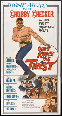 """Don't Knock the Twist (Columbia, 1962). Three Sheet (41"""" X 81""""). Rock and Roll"""