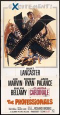 "Movie Posters:Western, The Professionals (Columbia, 1966). Three Sheet (41"" X 81""). Western.. ..."
