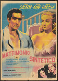 """Movie Posters:Comedy, Matrimonio Sintético (Columbia, 1948). Mexican One Sheet (26"""" X 36.5""""). Comedy.. ..."""