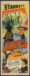 "Movie Posters:Western, Riders of the Northland (Columbia, 1942). Insert (14"" X 36"").Western.. ..."