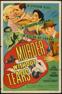 "Murder Without Tears (Allied Artists, 1953). One Sheet (27"" X 41""). Crime"