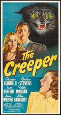 "Movie Posters:Horror, The Creeper (20th Century Fox, 1948). Three Sheet (41"" X 81""). Horror.. ..."