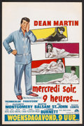 "Movie Posters:Comedy, Who's Been Sleeping in My Bed? (Paramount, 1963). Belgian (14"" X 21""). Comedy.. ..."