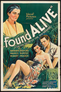 "Movie Posters:Drama, Found Alive (Ideal, 1934). One Sheet (27"" X 41""). Drama.. ..."