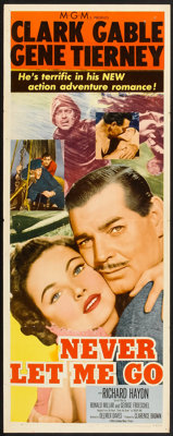 "Never Let Me Go (MGM, 1953). Insert (14"" X 36""). Adventure"