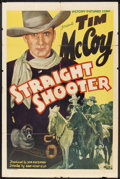 """Movie Posters:Western, Straight Shooter (Victory, 1939). One Sheet (27"""" X 41""""). Western....."""