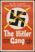 """Movie Posters:War, The Hitler Gang (Paramount, 1944). One Sheet (27"""" X 41"""") Style A.War.. ..."""