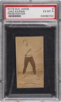 Boxing Cards:General, 1887 N174 Old Judge Jake Kilrain, Wavy Logo PSA EX-MT 6....