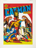 Original Comic Art:Covers, L. B. Cole Catman Comics #29 Cover Re-Creation Original Art (1981)....