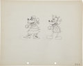 Animation Art:Production Drawing, Mickey's Mellerdrammer Animation Production Drawing OriginalArt Group (Disney, 1933).... (Total: 2 Items)
