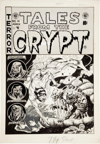 "Jack Davis Tales From the Crypt #40 ""Pearly to Dead"" Cover Original Art (EC, 1954)"