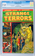 Golden Age (1938-1955):Horror, Strange Terrors #1 (St. John, 1952) CGC FN/VF 7.0 White pages....