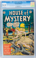 Golden Age (1938-1955):Horror, House of Mystery #1 (DC, 1952) CGC FN- 5.5 Cream to off-whitepages....