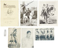 Memorabilia:Radio Premiums, Lone Ranger Film and Radio Premium and Signed Photo Group(1938-83).... (Total: 7 Items)
