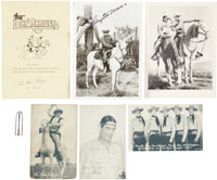 Lone Ranger Film and Radio Premium and Signed Photo Group (1938-83).... (Total: 7 Items)
