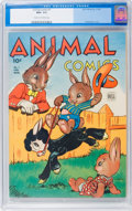 Golden Age (1938-1955):Funny Animal, Animal Comics #7 (Dell, 1944) CGC NM+ 9.6 Cream to off-whitepages....