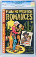Golden Age (1938-1955):Western, Flaming Western Romances #3 Mile High pedigree (Star, 1950) CGC NM9.4 Off-white to white pages....