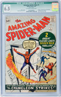 Silver Age (1956-1969):Superhero, The Amazing Spider-Man #1 (Marvel, 1963) CGC Qualified FN+ 6.5Off-white to white pages....