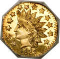 California Fractional Gold, 1881 50C Indian Octagonal 50 Cents, BG-956, High R.4, MS66 DeepMirror Prooflike NGC....