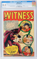 Golden Age (1938-1955):Crime, Witness #1 (Marvel, 1948) CGC VF+ 8.5 Off-white to white pages....