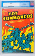 Golden Age (1938-1955):War, Boy Commandos #1 Vancouver pedigree (DC, 1942) CGC NM 9.4 White pages....