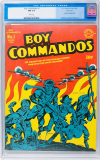 Boy Commandos #1 Vancouver pedigree (DC, 1942) CGC NM 9.4 White pages