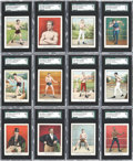 Boxing Cards:General, 1910 T220 Mecca Boxers-White Border Complete Set (50). ...