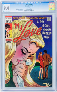 My Love #1 (Marvel, 1969) CGC NM 9.4 White pages