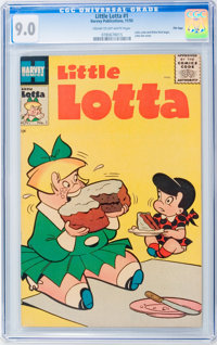 Little Lotta #1 File Copy (Harvey, 1955) CGC VF/NM 9.0 Cream to off-white pages