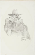 Original Comic Art:Sketches, Michael W. Kaluta The Shadow Sketch Original Art (1976)....