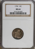 Early Dimes: , 1796 10C MS64 NGC. NGC Census: (18/17). PCGS Population (7/10).Mintage: 22,135. Numismedia Wsl. Price for NGC/PCGS coin in...